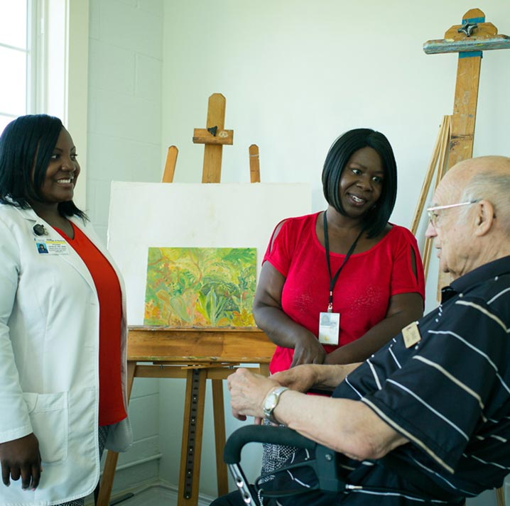 MUSC nurse at work in nursing home